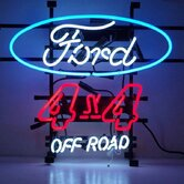 Cars and Motorcycles Ford 4 x 4 Off Road Neon Sign