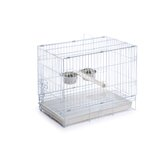 Travel Bird Cage in White