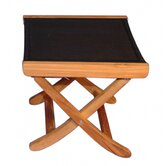 Teak Sling Foot Ottoman