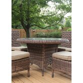 Del Ray Round Wicker Dining Table