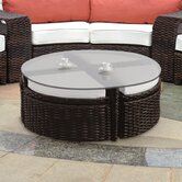 Saint Tropez Wicker Pie Table