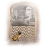 Accordion Design Wood Pet Gate in Mocha