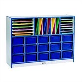 Rainbow Accents Sectional Mobile Cubbie w/o trays