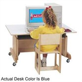42&quot; W Computer Table - Blue