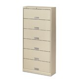 600 Series Six-Shelf Letter File with Receding Doors