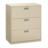 "600 Series 36"" W Three-Drawer Lateral File"