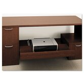 Attune Series Under-Credenza Storage With File and Printer Shelf, Shaker Cherry