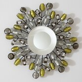 Bejeweled Small Mirror in Grey / Citron