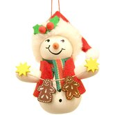Santa Snowman with Gingerbread Cookies Ornament
