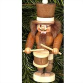 Natural Wood Mini Drummer Nutcracker