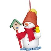 Snowman with Birdhouse Ornament