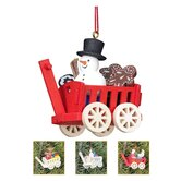 Christian Ulbricht Wagon with 6 Piece Toys Ornament (Set of 4)