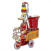 Tin Fireman Duck Toy