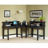 Bedford 2 Drawer L-Shape Desk Office Suite