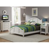 Bermuda Queen Bed, Nightstand and Media Chest