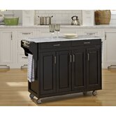 Create-A-Cart Kitchen Cart with Marble Top