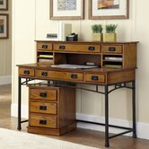 Modern Craftsman Executive Desk and Mobile File