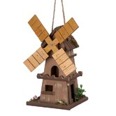Classic Dutch Windmill Birdhouse