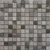 Fusion Series 12&quot; x 12&quot; Mixed Metal Glass Marble Mosaic