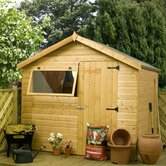 Shiplap OSB Reverse Apex Storage Shed with Opening Window