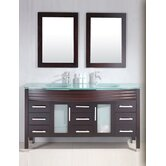 "Modern 63"" Double Bathroom Vanity Set"