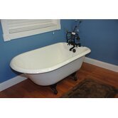 61&quot; x 23&quot; Rolled Rim Soaking Claw Foot Bath Tub