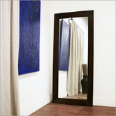 Baxton Studio Daffodil Floor Mirror in Dark Brown