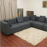Baxton Studio Alcoa Twill Modular Sectional