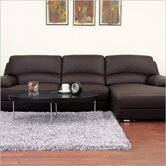 Baxton Studio Euclid Leather Sectional