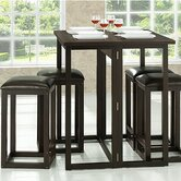 Baxton Studio Leeds 5 Piece Dining Set