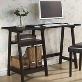 Baxton Studio Small Mott Wood Modern Writing Desk with Sawhorse Legs