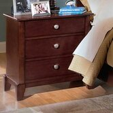 Baxton Studio Barton 3 Drawer Nightstand
