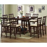 Baxton Studio Katelyn 7 Piece Counter Height Dining Set