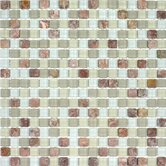 Glacier Mountain 11-3/4&quot; x 11-3/4&quot; Tile with Small Squares in Fire and Ice