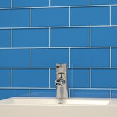 "Subway 6"" x 3"" Tile in Mediterranean Blue"