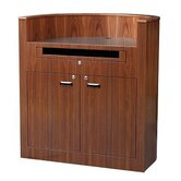 Veneer Bow Front Lectern