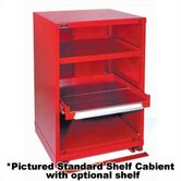 "Counter High Slenderline Shelf Cabinet: 22 3/4"" W x 28 1/4"" D x 44 1/4"" H"