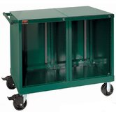 Bench High Extra-Wide Mobile Tool Cabinet with 10 Empty Drawers: 45&quot; W x 28 1/4&quot; D x 40&quot;  H