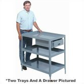 "Stationary Tool Stand - 2 Trays and Drawer: 34 1/4"" H x 20"" W x 28"" W"
