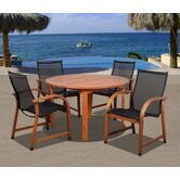 Amazonia Jersey 5 Piece Dining Set