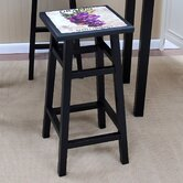 "30"" Grape Bar Stool in Distressed Antique Black"