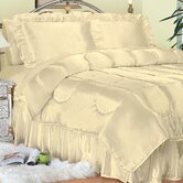 Charmeuse Satin Comforter Set in Bone