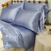 230 Thread Count Charmeuse II Satin Sheet Set in Blue
