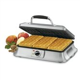 6-Slice Traditional Waffle Iron in Brushed Stainless