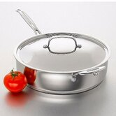 Chef's Classic Stainless Cookware 5.5-qt. Saute Pan with Lid