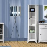 Vice Versa Slim Bookcase in White Lacquer