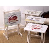Nautical TV Tray (Set of 4)