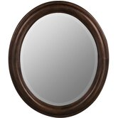 Addison Oval Mirror in Tobacco Finish