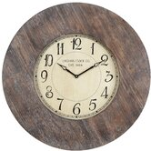 Williston Clock in Distressed Rustic White Wash