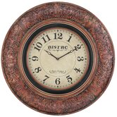 Billings Clock in Distressed Aged Merlot
